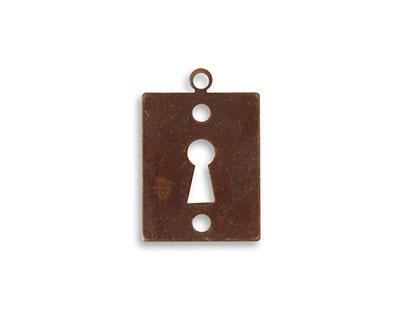 Vintaj Natural Brass Keyhole 14x21mm