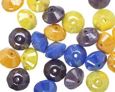 Czech Glass Party Mix Saucer 6x9mm