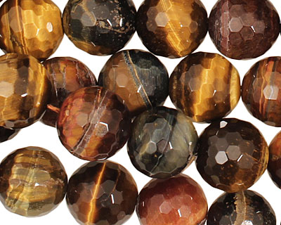 Tiger Eye (multi) Faceted Round 12mm