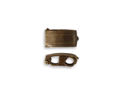 Vintaj Natural Brass Bracelet Foldover Clasp 13x6.5mm