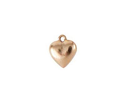 Nunn Design Antique Gold (plated) Heart Charm 12x15mm