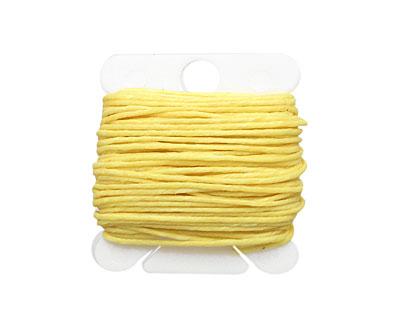 Lemon Yellow Irish Waxed Linen 7 ply