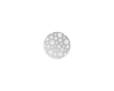 Lillypilly Silver Scattered Dots Anodized Aluminum Disc 11mm, 22 gauge