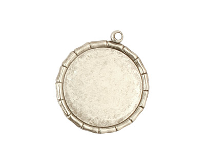 Stampt Antique Pewter (plated) Bamboo Round Setting 18mm