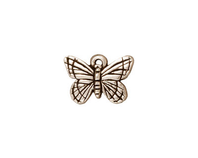 TierraCast Antique Silver (plated) Monarch Charm 16x11mm