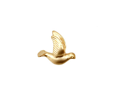 Ezel Findings Gold (plated) Peace Dove 11x15mm