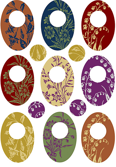 Nunn Design Floral Oval Small Collage Sheet