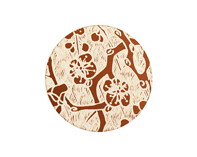 Lillypilly Bronze Cherry Blossom Anodized Aluminum Disc 25mm, 24 gauge