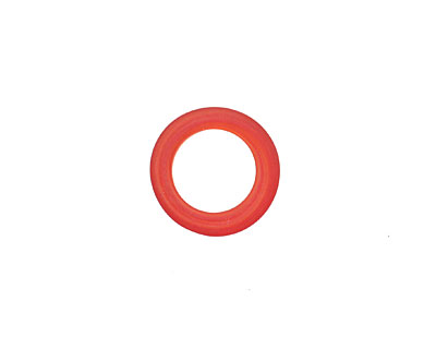 African Recycled Glass Matte Tomato Red Dogun Mini Ring 10-14mm