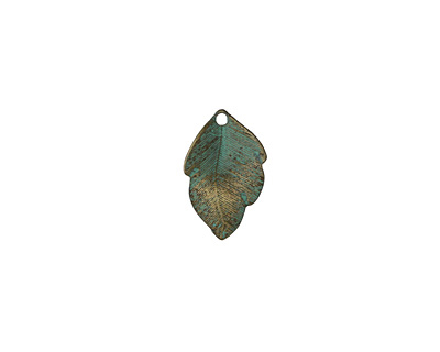 Zola Elements Patina Green Brass (plated) Little Leaf 15x23mm