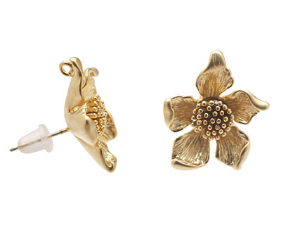 Ezel Findings Gold (plated) Aster Earring 17mm