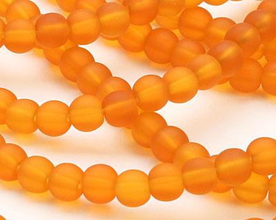 Saffron Recycled Glass Round 6mm