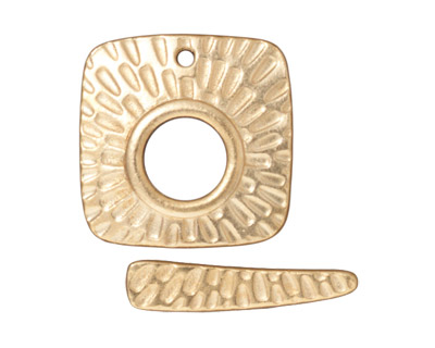 TierraCast Gold (plated) Radiant Square Toggle Clasp 22mm, 24mm bar