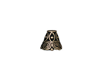 TierraCast Antique Brass (plated) Spiral Cone 8x9mm