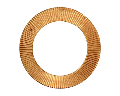 Brass Medium Corrugated Ring 31mm