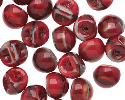 Czech Glass Pomegranate Teardrop 9x8mm