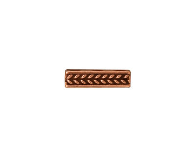 TierraCast Antique Copper (plated) Braided 3-Hole Bar 4x14mm
