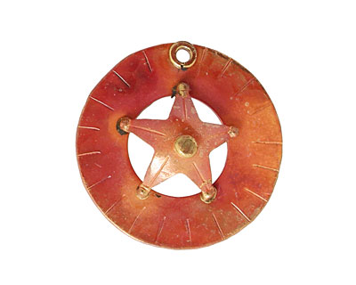 Patricia Healey Copper Star Ring Pendant 27mm