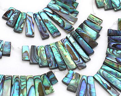 Abalone Stick Bib Pendant Set Graduated 5-7x11-28mm