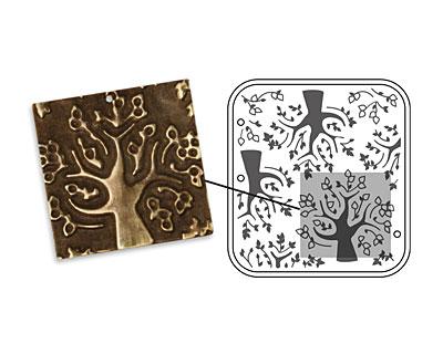 Vintaj DecoEmboss Die Mod Trees 2 3/8