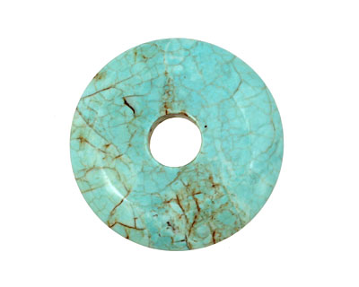 Howlite Turquoise Donut 40mm
