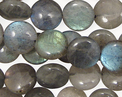 Labradorite Puff Coin 12mm