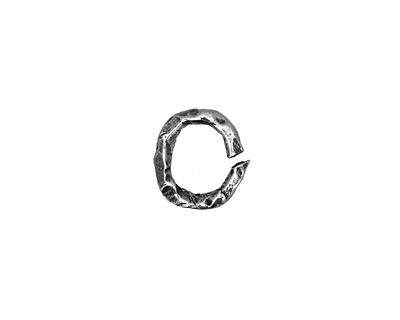 Rustic Charms Sterling Silver Open Oval Rustic O Ring 12x11mm