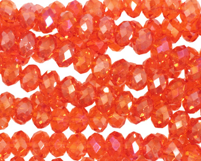 Poppy AB Crystal Faceted Rondelle 6mm