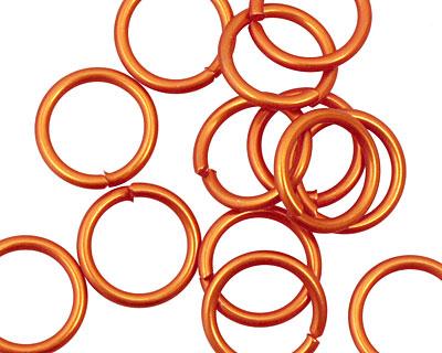 Orange Anodized Aluminum Jump ring 13mm, 16 gauge (10mm inside diameter)