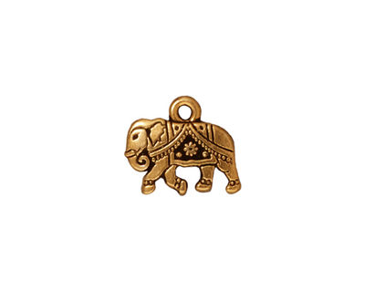 TierraCast Antique Gold (plated) Gita Charm 13x12mm