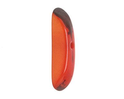 Tagua Nut Orange Splinter (center-drilled) 7-8x28-35mm
