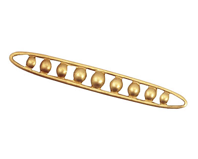 Brass Dotted Long Oval Connector 50x6mm