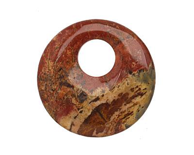 Red Creek Jasper Off Center Donut 45mm