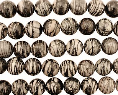 Black Water Jasper Round 18mm