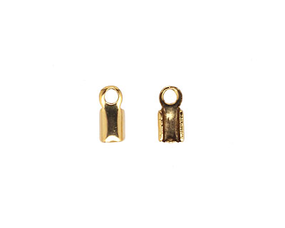 Antique Gold (plated) Foldover Cord End 9x4mm