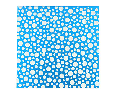Lillypilly Turquoise Scattered Dots Anodized Aluminum Sheet 3