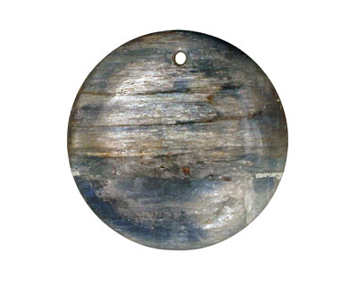 Kyanite (in resin) Coin Pendant 40mm