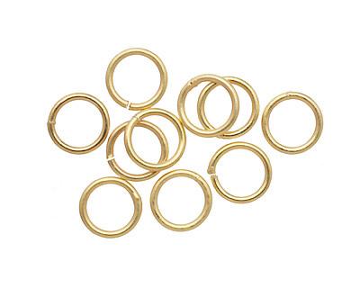 Satin Hamilton Gold (plated) Soldered Jump Ring 8mm, 18 gauge