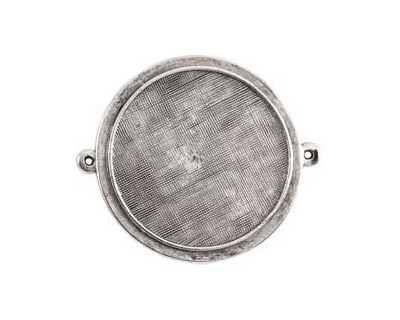 Nunn Design Antique Silver (plated) Raised Bezel Large Circle Link 44x38mm