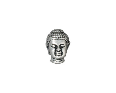 TierraCast Antique Silver (plated) Buddha Bead 13x10mm