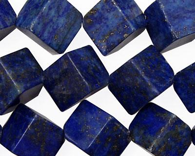 Lapis Diagonal Drilled Cube 13mm