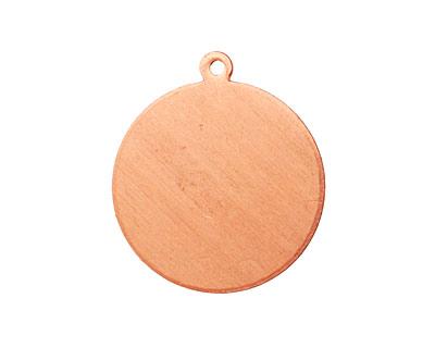 Copper Circle Blank Pendant 23x26mm