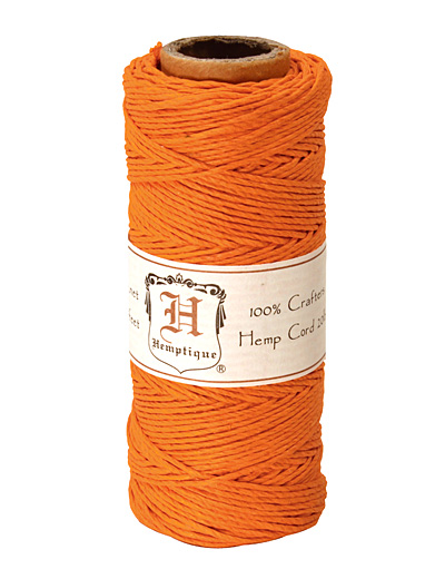 Orange Hemp Twine 20 lb, 205 ft