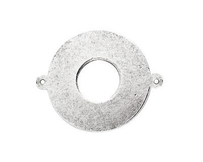 Nunn Design Antique Silver (plated) Flat Grande Circle Tag Link 31mm