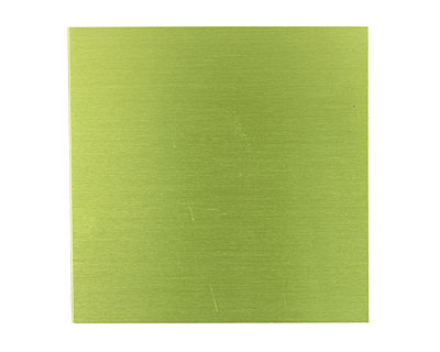 Lillypilly Lime Green Anodized Aluminum Sheet 3