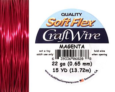 Soft Flex Magenta Craft Wire 22 gauge, 15 yards