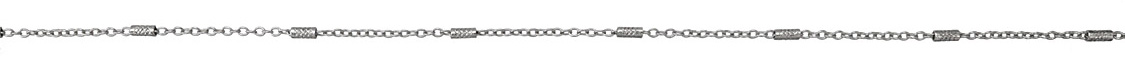Imitation Rhodium (plated) Crosshatched Bar & Cable Chain