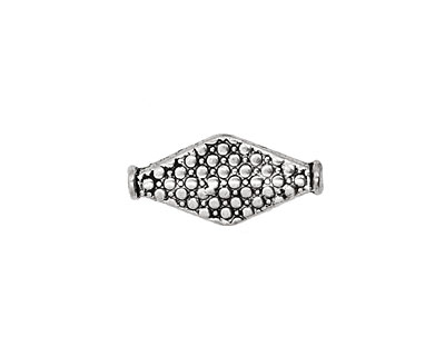 Pewter Dotted Diamond 20x10mm
