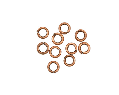 Antique Copper (plated) Round Jump Ring 4mm, 18 gauge