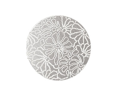 Lillypilly Silver Weathered Daisy Anodized Aluminum Disc 25mm, 22 gauge